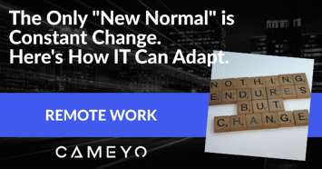 Image for Cameyo blog post about the New Normal and constant change